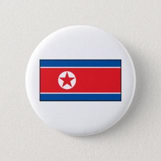 North Korean Flag 6 Cm Round Badge