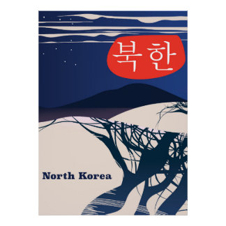 North Korean vintage travel poster