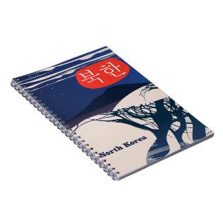 North Korean vintage travel poster Notebook