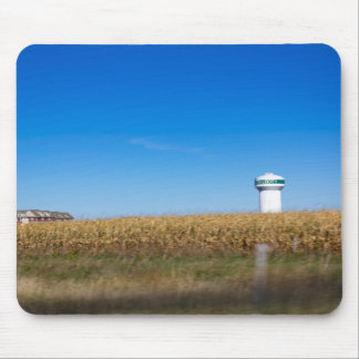 North Liberty Iowa USA Scenery with Water Tower Mouse Pad
