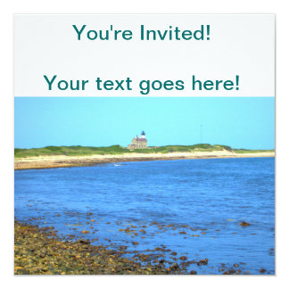 North Light Block Island 13 Cm X 13 Cm Square Invitation Card