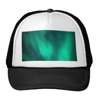 North moving Borealis picture green sky night Hats