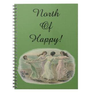 North of Happy Notebook Gratitude Journal day plan
