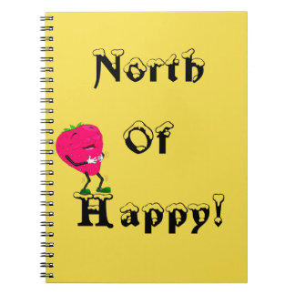North of Happy Notebook Strawberry Journal