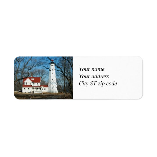North Point Lighthouse Milw WI Address Label