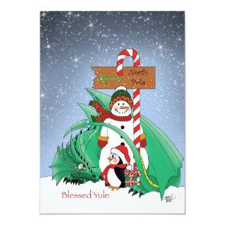 North Pole 13 Cm X 18 Cm Invitation Card