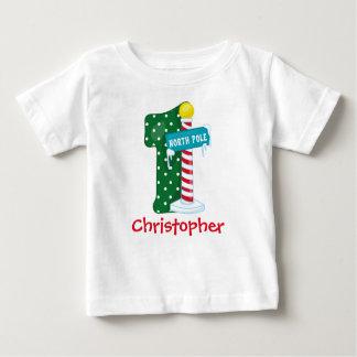 North Pole 1st Birthday Baby T-Shirt