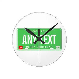 North Pole 2016 Round Clock