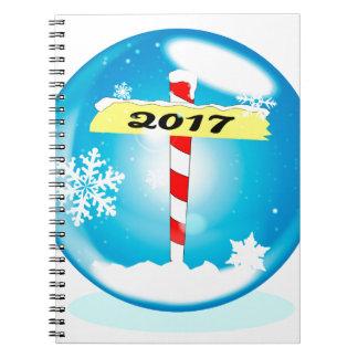 North Pole 2017 Winter Globe Spiral Notebook