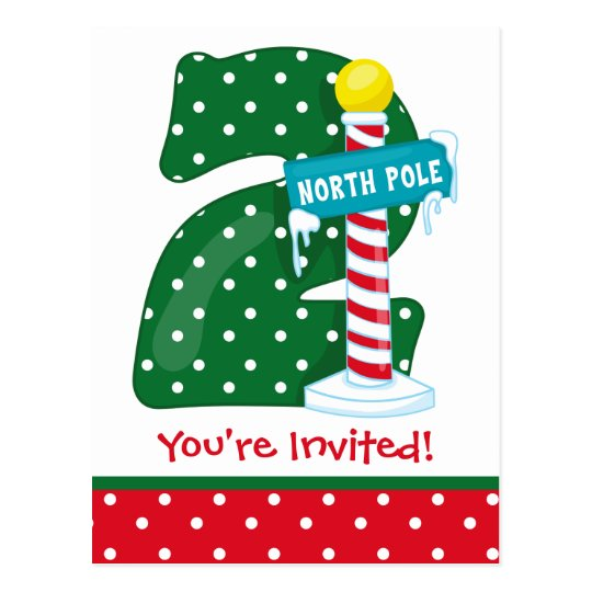 North Pole 2nd Birthday Postcard