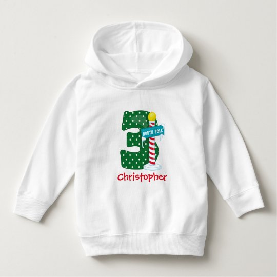 North Pole 3rd Birthday Hoodie