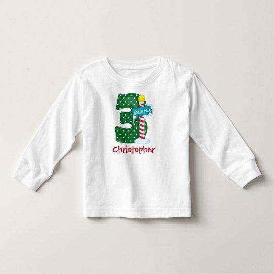 North Pole 3rd Birthday Toddler T-Shirt