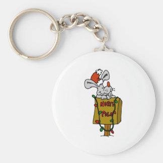 North Pole Basic Round Button Key Ring