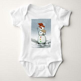 North Pole Bound Snowman Baby Bodysuit