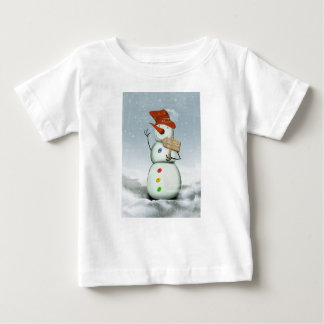 North Pole Bound Snowman Baby T-Shirt