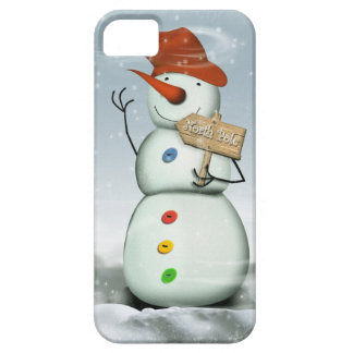 North Pole Bound Snowman Barely There iPhone 5 Case