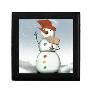 North Pole Bound Snowman Gift Box