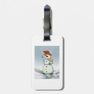 North Pole Bound Snowman Luggage Tag
