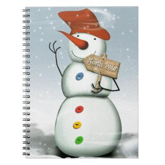 North Pole Bound Snowman Notebooks