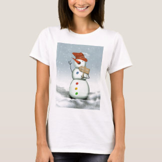 North Pole Bound Snowman T-Shirt