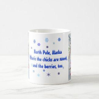 North Pole Chickadee Mug with Text