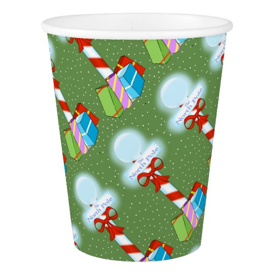 North Pole Christmas Paper Cups