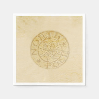 North Pole Christmas Party Paper Napkins