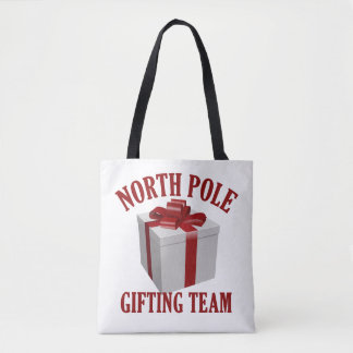 North Pole Gifting Team bags