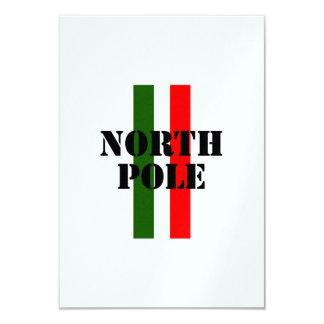 """North Pole 3.5"""" X 5"""" Invitation Card"""