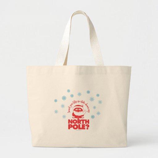 North Pole Jumbo Tote Bags