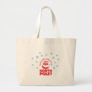 North Pole Jumbo Tote Jumbo Tote Bag