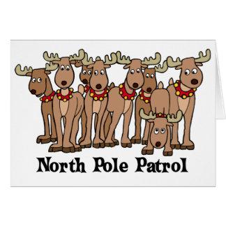 North Pole Patrol card Greeting Card