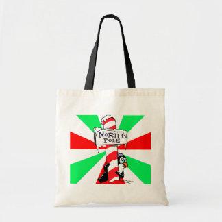 North Pole Penguin Budget Tote Bag