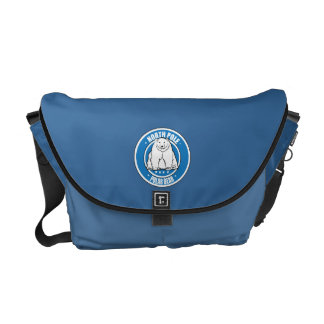 North pole polar bear messenger bag