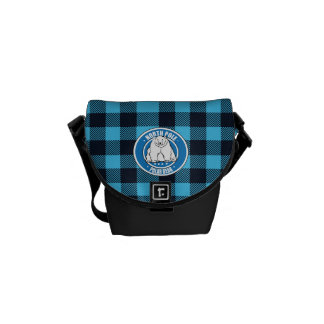 North pole polar bear messenger bags