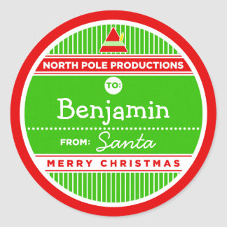 North Pole Productions Classic Round Sticker