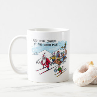 North Pole Rush Hour right hand cartoon mug