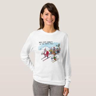 North Pole Rush Hour women l-slv Christmas shirt