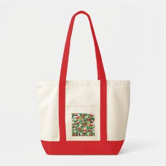 North Pole Themed Mini Ornaments on Christmas Tree Impulse Tote Bag