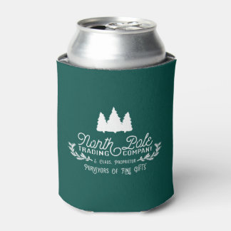 North Pole Trading Co Vintage Christmas Typography Can Cooler