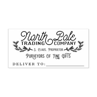 North Pole Trading Company Holiday Gift Stamp