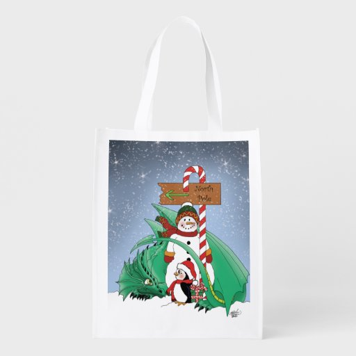 North Pole Grocery Bag