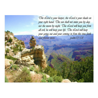 North Rim Grand Canyon Photo with Bible Verse Postcard