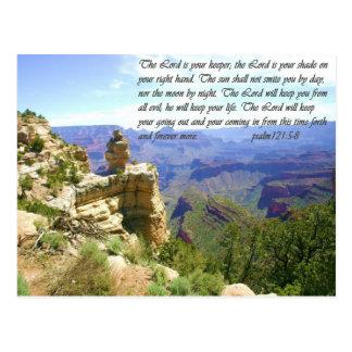North Rim Grand Canyon Photo with Bible Verse Postcard
