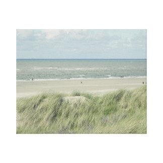 North Sea beach on canvas Canvas Print