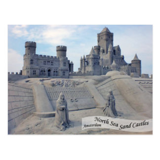 North Sea Sand Castles In Amsterdam Postcard