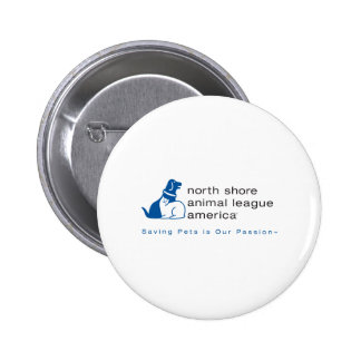 North Shore Animal League Branded 6 Cm Round Badge