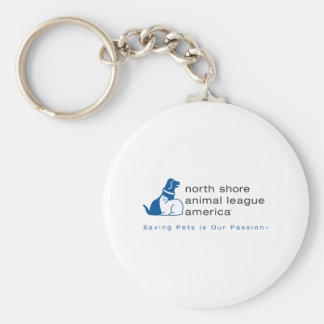 North Shore Animal League Branded Basic Round Button Key Ring