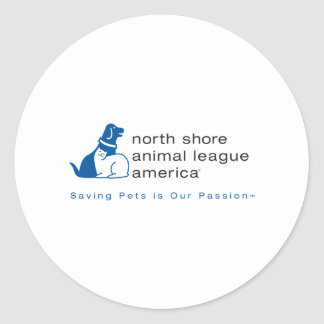 North Shore Animal League Branded Round Sticker