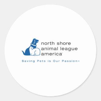 North Shore Animal League Branded Classic Round Sticker